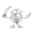 pirate sketch vector image
