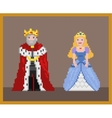 Pixel king and princess vector image vector image