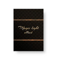 postcard with gold stripes vector image vector image