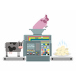 Production of pork and beef dumplings Russian vector image vector image