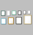 realistic photo frame square and rectangular vector image