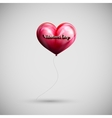 red balloon heart with lettering retro emblem vector image vector image