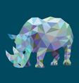 Rhinoceros low polygon style vector image vector image