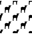 seamless background silhouette of lambs vector image