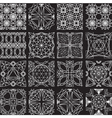 Seamless pattern from diamond cutting on black vector image vector image
