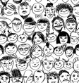 Seamless pattern of smiling crowd people vector image vector image