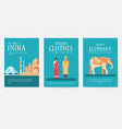 set india country ornament travel tour concept vector image