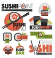 set with sushi banners icons vector image vector image