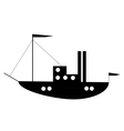 Ship button vector image