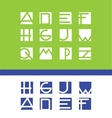 Simple flat letter set alphabet logo icon vector image vector image