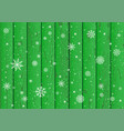 snowfall and green wood background vector image vector image