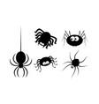 spider halloween icon symbol silhouette set on vector image