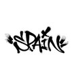 sprayed spain font graffiti with overspray in vector image
