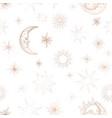 starry night sky trendy seamless pattern vintage vector image