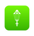 street lamp icon digital green vector image vector image
