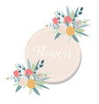 summer vintage floral greeting card with blooming vector image vector image