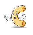 surprised macaroni mascot cartoon style vector image vector image