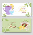 tea party two horizontal vector image vector image