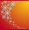 this is a christmas background with snowflakes vector image