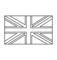 uk flag england symbol outline symbol icon design vector image