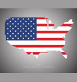united states of america map usa independence vector image vector image