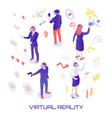 virtual world isometric vector image