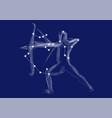 zodiac sign-sagittarius vector image vector image