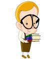nerd kid vector image