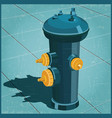 fire hydrant retro style vector image