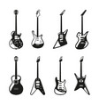 different rock electric guitars set vector image