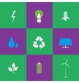 Green energy and recycling icons set vector image