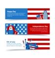 New York USA banner set vector image