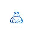 orbit circle science technology logo vector image