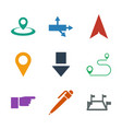 9 pointer icons vector image vector image