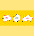 abstract star and fluid white frame banners set vector image
