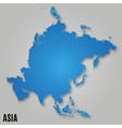 Asia political map card paper vector image vector image