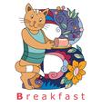B breakfast vector image vector image