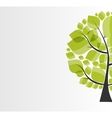 Beautiful Green Tree on a White Background vector image vector image