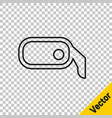 black line car rearview mirror icon isolated on vector image vector image