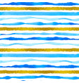 blue and golden striped watercolor pattern vector image vector image