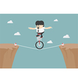 Business balancing on the rope vector image vector image