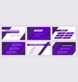 business presentation design 6 purple slides vector image