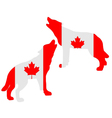 Canadian howling wolves vector image vector image