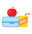 children school lunch icon lunchbox kid nutrition vector image