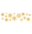 christmas gold snowflakes splash of a random vector image