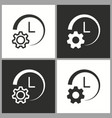clock setting icon pictogram for graphic vector image vector image