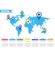 colorful modern infographic world map vector image