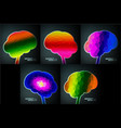 colorful structure in form brain vector image vector image