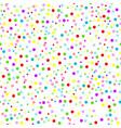 confetti seamless pattern white vector image