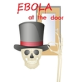 ebola at the door vector image vector image